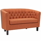Modway Prospect Upholstered Fabric Loveseat in Orange MY-EEI-2614-ORA