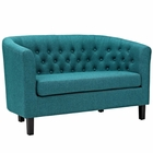 Modway Prospect Upholstered Fabric Loveseat in Teal MY-EEI-2614-TEA