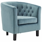 Modway Prospect Velvet Armchair in Sea Blue MY-EEI-2613-SEA