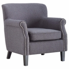 Modway Province Upholstered Fabric Armchair in Gray MY-EEI-2554-GRY