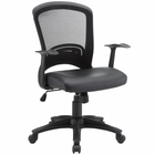 Modway Pulse Faux Leather Office Chair in Black MY-EEI-756-BLK