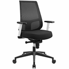 Modway Pump White Frame Upholstered Fabric Office Chair in Black MY-EEI-2216-BLK