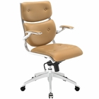 Modway Push Mid Back Faux Leather Office Chair in Tan MY-EEI-1062-TAN