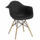Modway Pyramid Dining Armchair in Black MY-EEI-182-BLK