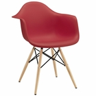 Modway Pyramid Dining Armchair in Red MY-EEI-182-RED