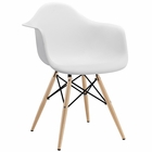 Modway Pyramid Dining Armchair in White MY-EEI-182-WHI