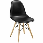 Modway Pyramid Dining Side Chair in Black MY-EEI-180-BLK