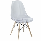 Modway Pyramid Dining Side Chair in Clear MY-EEI-2315-CLR
