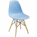 Modway Pyramid Dining Side Chair in Light Blue MY-EEI-180-LBU