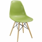 Modway Pyramid Dining Side Chair in Light Green MY-EEI-180-LGN