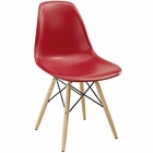 Modway Pyramid Dining Side Chair in Red MY-EEI-180-RED