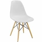 Modway Pyramid Dining Side Chair in White MY-EEI-180-WHI