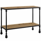 "Modway Raise 42"" Pine Wood and Steel TV Stand in  MY-EEI-2640-BRN"