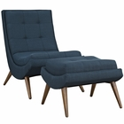 Modway Ramp Upholstered Fabric Lounge Chair Set in Azure MY-EEI-2143-AZU