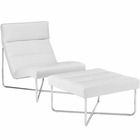 Modway Reach Lounge Chairs Faux Leather Set of 2 in White MY-EEI-2417-WHI-SET