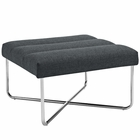 Modway Reach Upholstered Fabric Ottoman in Gray MY-EEI-2083-GRY