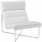 Modway Reach Upholstered Vinyl Lounge Chair in White MY-EEI-2080-WHI