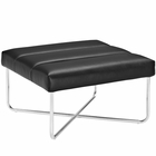 Modway Reach Upholstered Vinyl Ottoman in Black MY-EEI-2082-BLK