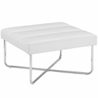 Modway Reach Upholstered Vinyl Ottoman in White MY-EEI-2082-WHI