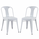 Modway Reception Dining Side Chair Set of 2 in White MY-EEI-1301-WHI