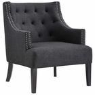 Modway Regard Upholstered Fabric Armchair in Gray MY-EEI-2578-GRY