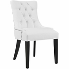 Modway Regent Faux Leather Dining Chair in White MY-EEI-2222-WHI