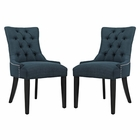 Modway Regent Parsons Dining Side Chairs Upholstered Fabric Set of 2 in Azure MY-EEI-2743-AZU-SET
