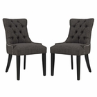 Modway Regent Parsons Dining Side Chairs Upholstered Fabric Set of 2 in Brown MY-EEI-2743-BRN-SET