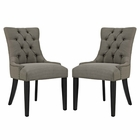 Modway Regent Parsons Dining Side Chairs Upholstered Fabric Set of 2 in Granite MY-EEI-2743-GRA-SET
