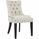 Modway Regent Upholstered Fabric Dining Chair in Beige MY-EEI-2223-BEI
