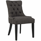 Modway Regent Upholstered Fabric Dining Chair in Brown MY-EEI-2223-BRN