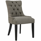 Modway Regent Upholstered Fabric Dining Chair in Granite MY-EEI-2223-GRA