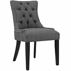 Modway Regent Upholstered Fabric Dining Chair in Gray MY-EEI-2223-GRY