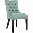 Modway Regent Upholstered Fabric Dining Chair in Laguna MY-EEI-2223-LAG