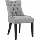 Modway Regent Upholstered Fabric Dining Chair in Light Gray MY-EEI-2223-LGR