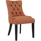 Modway Regent Upholstered Fabric Dining Chair in Orange MY-EEI-2223-ORA