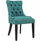 Modway Regent Upholstered Fabric Dining Chair in Teal MY-EEI-2223-TEA