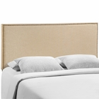 Modway Region Queen Nailhead Upholstered Fabric Headboard in Cafe MY-MOD-5215-CAF