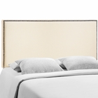 Modway Region Queen Nailhead Upholstered Fabric Headboard in Ivory MY-MOD-5215-IVO