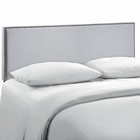 Modway Region Queen Nailhead Upholstered Fabric Headboard in Sky Gray MY-MOD-5215-GRY