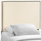Modway Region Twin Nailhead Upholstered Fabric Headboard in Ivory MY-MOD-5218-IVO