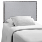 Modway Region Twin Nailhead Upholstered Fabric Headboard in Sky Gray MY-MOD-5218-GRY