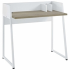 Modway Relay Wood Writing Desk in White Natural MY-EEI-2788-WHI-NAT