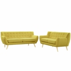 Modway Remark 2 Piece Upholstered Fabric Living Room Set in Sunny MY-EEI-1785-SUN-SET