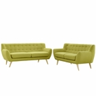 Modway Remark 2 Piece Upholstered Fabric Living Room Set in Wheat MY-EEI-1785-WHE-SET