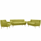 Modway Remark 3 Piece Upholstered Fabric Living Room Set in Wheat MY-EEI-1782-WHE-SET