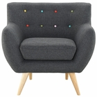 Modway Remark Upholstered Fabric Armchair in Gray MY-EEI-1631-GRY
