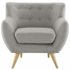 Modway Remark Upholstered Fabric Armchair in Light Gray MY-EEI-1631-LGR