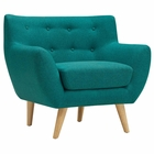 Modway Remark Upholstered Fabric Armchair in Teal MY-EEI-1631-TEA
