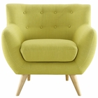 Modway Remark Upholstered Fabric Armchair in Wheatgrass MY-EEI-1631-WHE